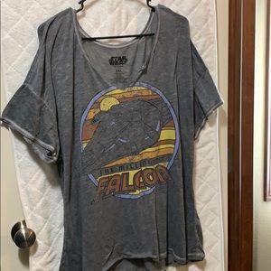 Star Wars The Millennium Falcon burnout T-shirt